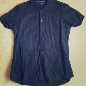 Marc Anthony Black Short Sleeved Button Up